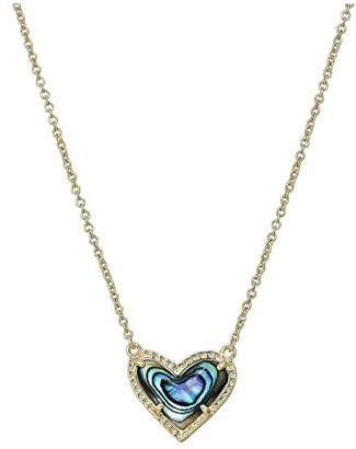 Kendra Scott Ari Heart Short Pendant Necklace (Gold Abalone Shell) Necklace