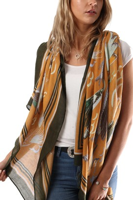 Style Slice Floral Scarves for Women English Country Scarf Lightweight Head Scarfs For Her Lady Scarf Mustard Scarf