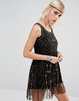 Raga Beaded Embellished Short Dress
