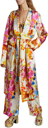 Dries Van Noten Charly Floral Tie-Front Wrap Dress