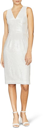 Amsale Clear Sequin Sleeveless Sheath Dress