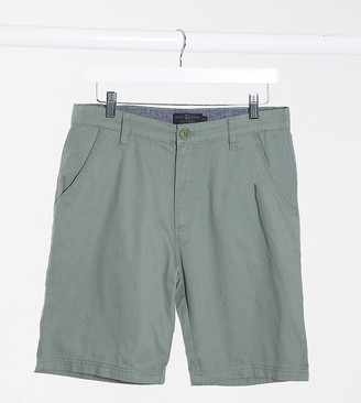Soul Star Tall slim fit chino shorts in green