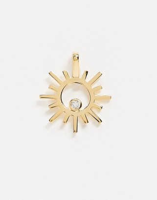 Astrid & Miyu charm collection sun & gem necklace charm in gold