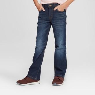 Cat & Jack Boys' Bootcut Fit Jeans - Cat & JackTM Dark