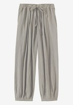 Toast Stripe Double Faced Trouser
