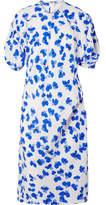 Lemaire Floral-print Silk-twill Midi Dress