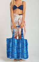 MUMU Terry Cloth Tote Bag ~ Indigo Rain Terry