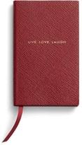 Smythson 'Live Love Laugh Panama' Pocket Notebook - Red