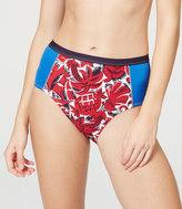 LOFT Beach Tropicblock High Waisted Bikini Bottom