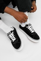 Vans Sport Black Suede Trainers - black UK 7 at Urban Outfitters