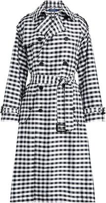 Ralph Lauren Gingham Silk Trench Coat