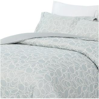 Natural Comfort Luxurious Cotton Duvet Cover Mini Set, Circle/Light Bl