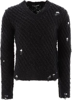 Dolce & Gabbana Distressed Knit Jumper