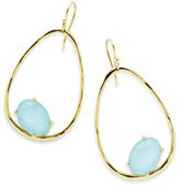 Ippolita 18K Rock Candy Tipped Oval Wire Earrings in Clear Quartz and Turquoise