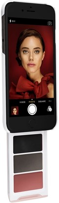 Pout Case Get Your Glam On Makeup Case for iPhone White & Pink Case