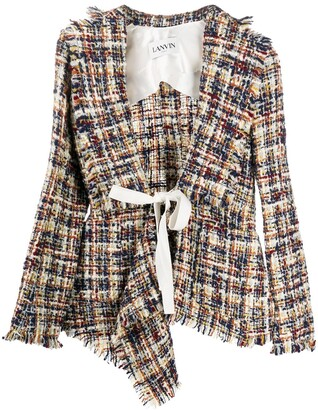 Lanvin Asymmetric Tweed Jacket