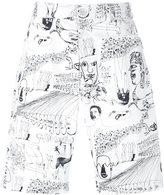 Comme des Garcons illustration print shorts