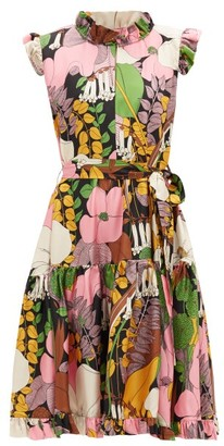 La DoubleJ Short & Sassy Floral-print Silk Dress - Multi