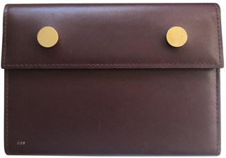 rsvp Burgundy Leather Clutch bags