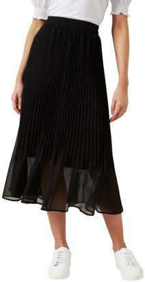 French Connection Sunray Pleated Midi Skirt