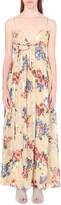 Free People Floral print silk-blend maxi dress