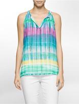 Calvin Klein Multi-Stripe Sleeveless Top