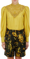 Dries Van Noten Women's Coxy Embellished Silk Georgette Blouse-Yellow