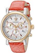 Versace Women's VLB120015 Day Glam Chrono Analog Display Swiss Quartz Red Watch