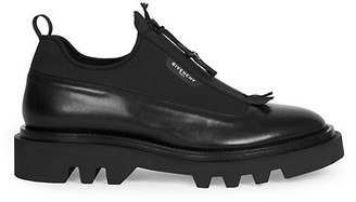 Givenchy Combat Derby Leather Zip-Up Shoes