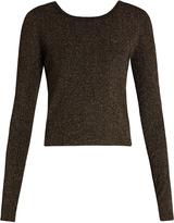 A.L.C. Chance wrap-back lamé sweater