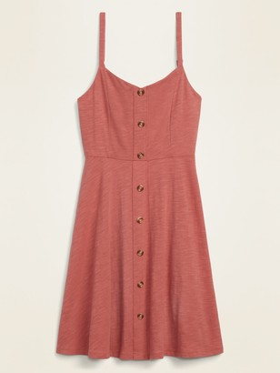 Old Navy Slub-Knit Button-Front Cami Fit & Flare Dress for Women