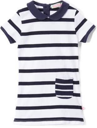 SAM. Sophie & Girls' Tunics Blue - Blue Stripe Peter Pan-Collar Tunic - Infant, Toddler & Girls