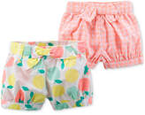 Carter's 2-Pack Printed Bow Shorts, Baby Girls