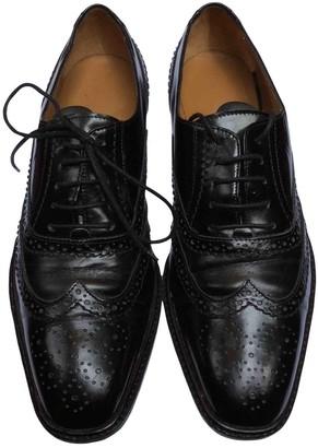 Salvatore Ferragamo Black Leather Lace ups