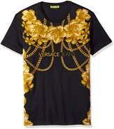 Versace Men's Gold Chain T-Shirt