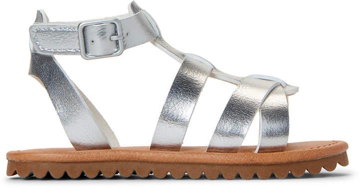 e1cb05a743a34 Toddler Girls) Silver Larysa Metallic Gladiator Sandals