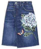 Dolce & Gabbana Embroidered denim skirt
