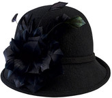 San Diego Hat Company Women's Wool Felt Cloche with Feather Trim DRS3550