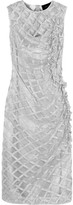 Simone Rocha Metallic Embroidered Tulle Dress - Silver