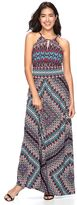 Petite Suite 7 Abstract Halter Maxi Dress
