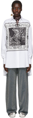 Lanvin White Silk Printed Shirt