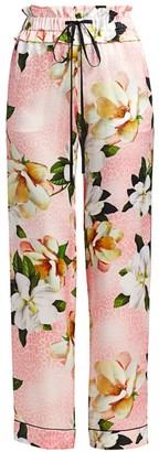 Adriana Iglesias Aila Silk Floral Pants