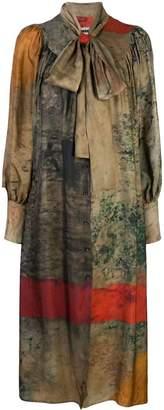 UMA WANG abstract print dress
