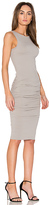 James Perse Open Back Skinny Dress in Gray