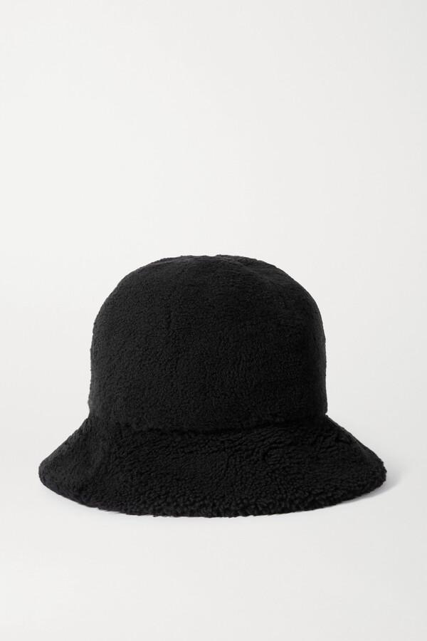 Bogner Mara Appliqued Shearling Bucket Hat