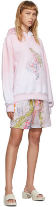 I'm Sorry by Petra Collins Im Sorry by Petra Collins SSENSE Exclusive Pink and White Graphic Pullover Hoodie