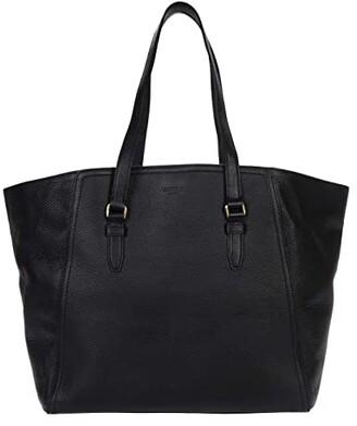 Shinola Detroit Gibson Tote Pebble Grain Leather MG (Black) Handbags