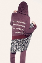 Wildfox Couture Sleep Outside Track Suit Jacket in Burgundy