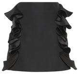 Victoria Victoria Beckham Ruffled Cotton-blend Miniskirt