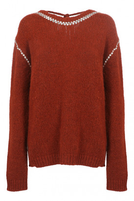 Rochas Red Wool Knitwear